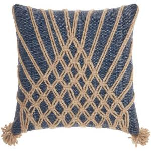 Mina Victory Bohemian Knotted Multicolor Throw Pillow (20-Inch X 20-Inch)