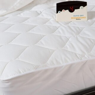 Biddeford 5203 505222 100 Quilted Electric Heated Mattress Pad King White