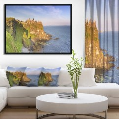 Framed Wall Pictures For Living Room Ireland Indian Small Decorating Ideas Designart Dunluce Castle In Northern Large Seascape Art X27