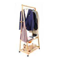 Folding Chair Storage Hooks Eames Plastic Shop Clothes Hanging Rack 4 Bamboo Coat Hat Bag Wood Shelf Free Shipping Today Overstock Com 19113936