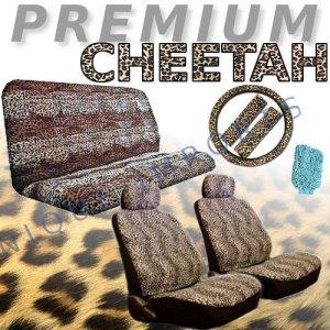 Cheetah Animal Print Safari Auto Interior Gift Set Cheetah Seat Covers