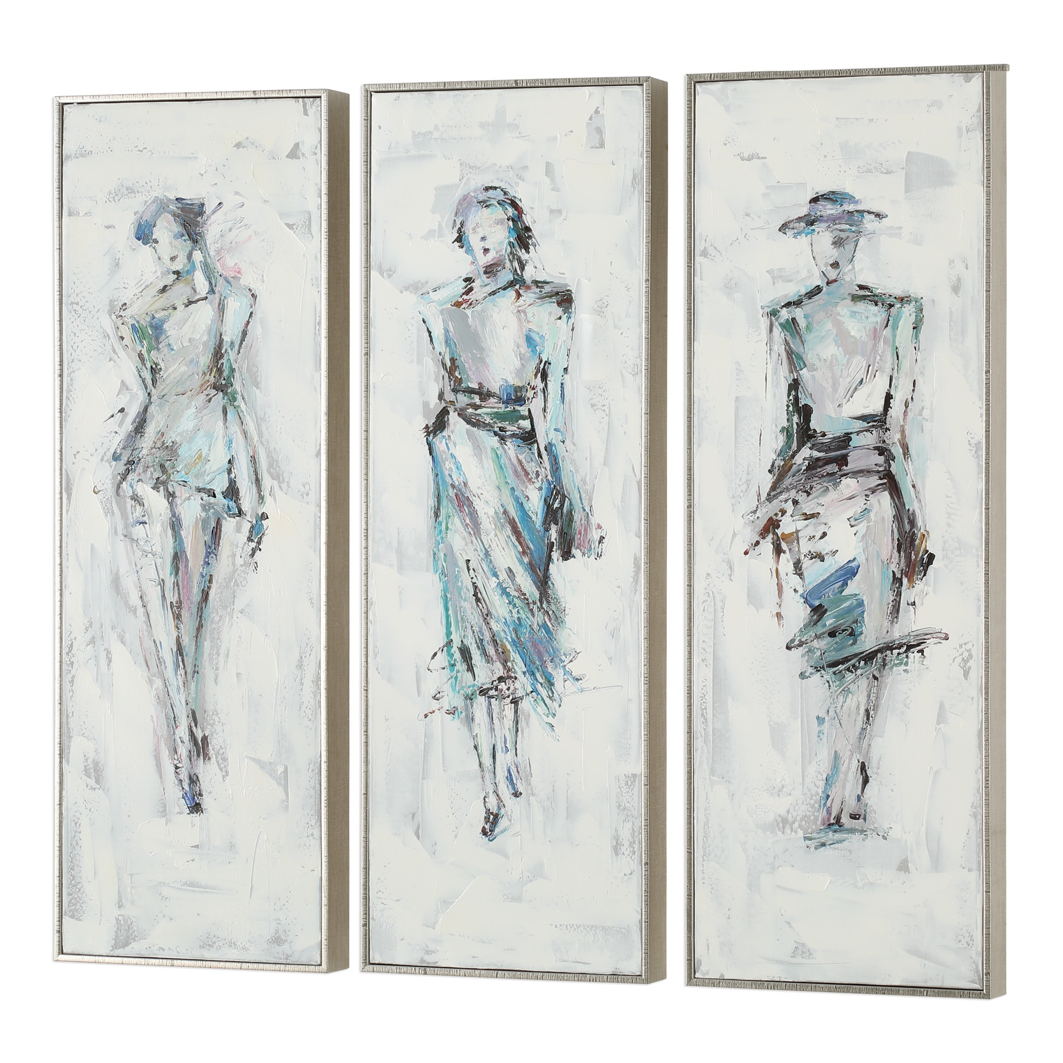 Uttermost Styling Hand Painted Arts (Set of 3)