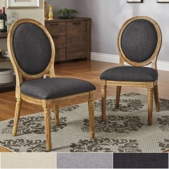 Dining Chairs Overstock X Rocker 51396 Pro Series Pedestal 2 1 Video Gaming Chair Shop Deana Round Back Linen And Pine Wood Set Of By Inspire
