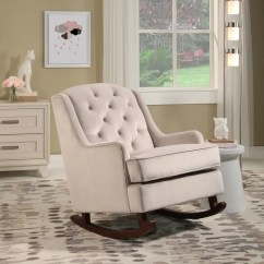 Abbyson Living Thatcher Fabric Rocking Chair In Beige Black Elastic Covers Shop Theresa Velvet On Sale Free Shipping