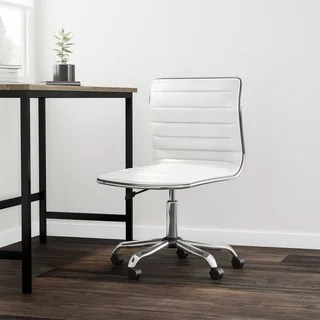 back support office chair ergonomic design dimensions buy lumbar conference room chairs online at carson carrington olafsvik swivel mid armless ribbed task leather white upholstery