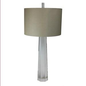 Urban Designs Crystal Column Clear Glass 33-inch Table Lamp