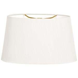 Royal Designs Shallow Oval Hardback Lamp Shade, White, 14 x 16 x 9