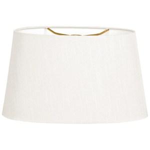 Royal Designs Shallow Oval Hardback Lamp Shade, White, 10 x 12 x 7