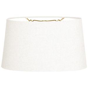 Royal Designs Shallow Oval Hardback Lamp Shade, Linen White, 10 x 12 x 7