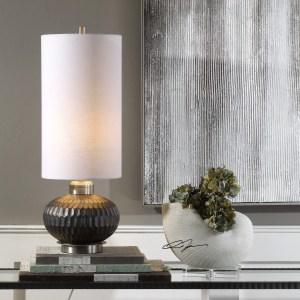 Uttermost Bresca Textured Aged Black Rust Black Table Lamp