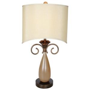 Van Teal 753272 Omar Beige Acrylic/Metal 32-inch Table Lamp