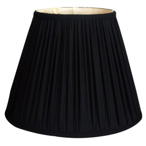 Royal Designs Deep Empire Gather Pleat Basic Lamp Shade, Black, 10 x 20 x 15