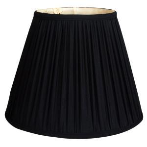 Royal Designs Deep Empire Gather Pleat Basic Lamp Shade, Black, 6 x 12 x 9.25
