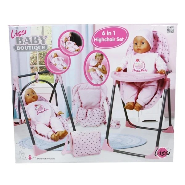 baby toy high chair set slipcovered swivel shop lissi doll 6 in 1 convertible highchair play free shipping on orders over 45 overstock com 19447466