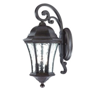 Acclaim Lighting Waverly Collection Wall-Mount 3-Light Outdoor Black Coral Light Fixture