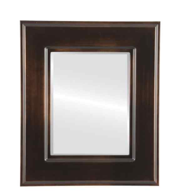 Marquis Framed Rectangle Mirror in Rubbed Bronze - Antique Bronze