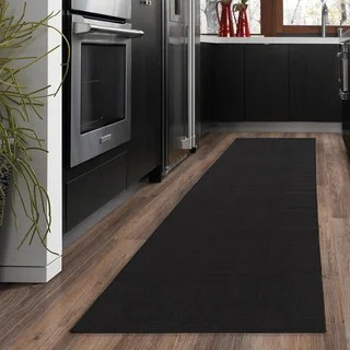 kitchen runner designing a shop kapaqua solid colored non slip rug rubber backed 2x8 1 ottomanson ottohome collection hallway and area
