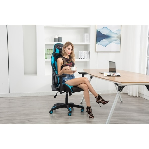computer chair for gaming ikea orange covers shop adjustable high back racing ergonomic with lumbar support