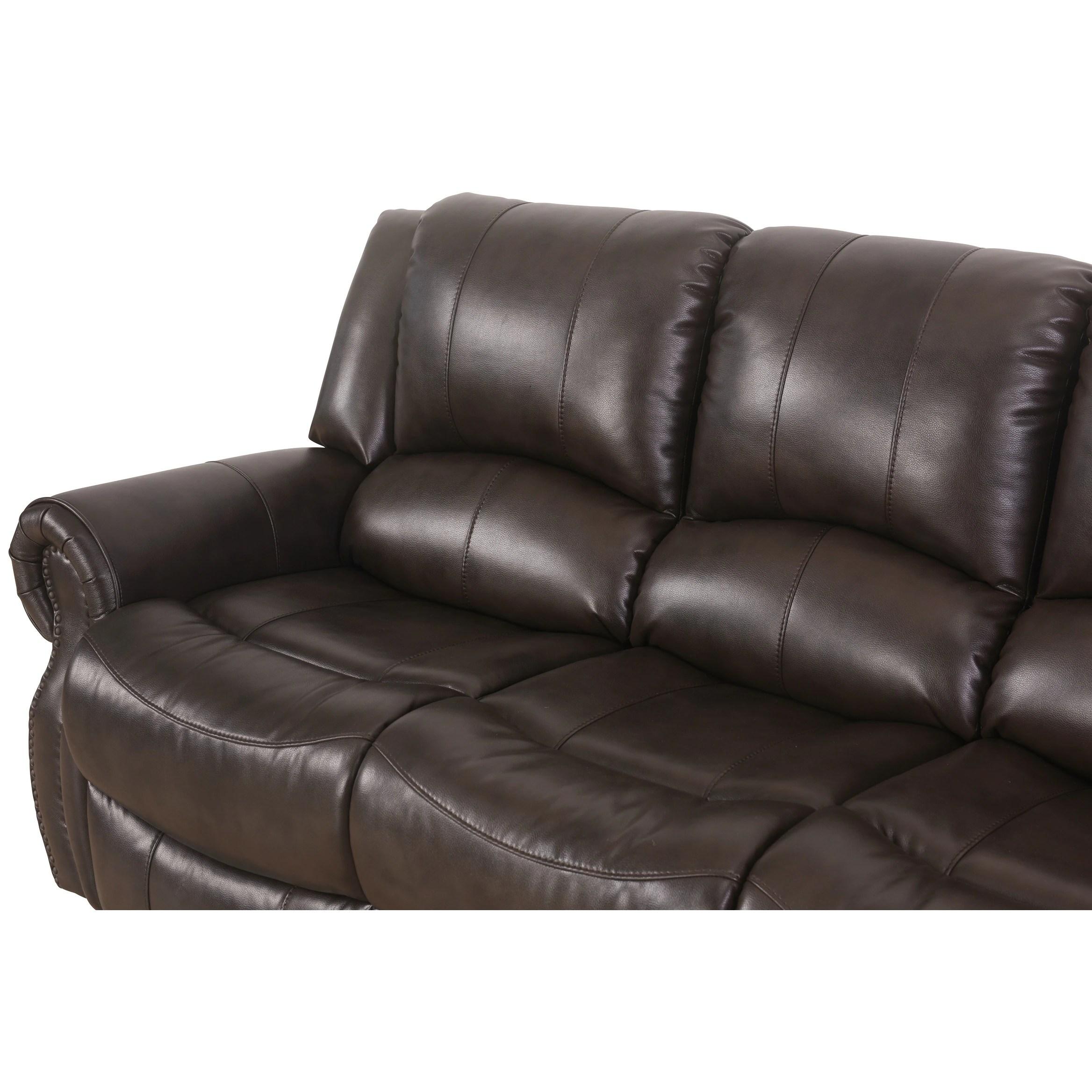 abbyson living bradford faux leather reclining sofa dark brown pier 1 table baci