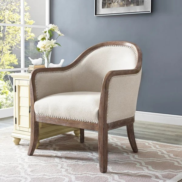 modern light oak living room furniture theater portland shop mid century wood frame and cream fabric accent chair