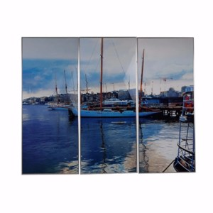 Harbor 3-Panel Wall Print - Set of 3