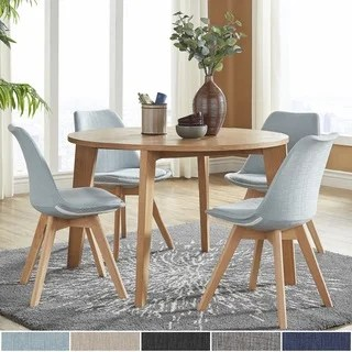 dining room chair leg protectors aluminum folding lawn chairs walmart simple living mid-century elba set - free shipping today overstock.com 19730910