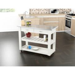 Stainless Kitchen Cart Non Slip Work Shoes For Shop Inval With Steel Top Free Shipping