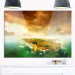 Shop Great Ocean Road Australia Green Modern Seascape Glossy Metal Wall Art Overstock 19783742