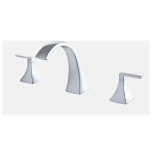 Dual Handle Deck-Mount Tub Filler Trim Set with Rough-in Valve - F2312T - Chrome
