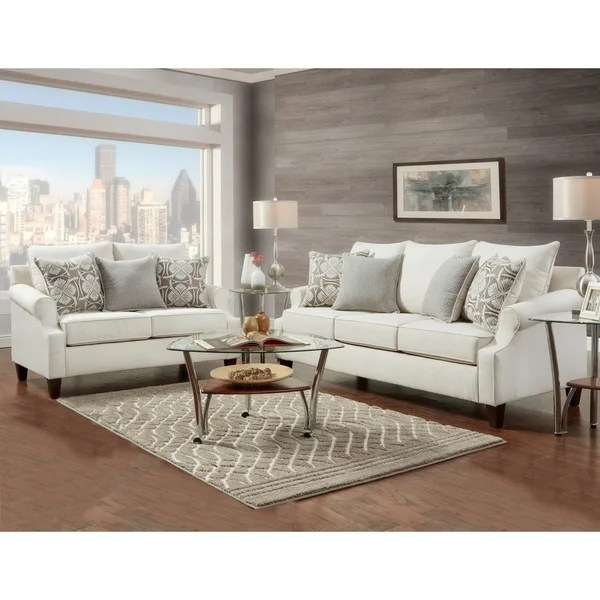 abbyson living belmont leather sofa mission style plans shop sofatrendz loveseat 2 pc set free shipping today overstock com 19849066