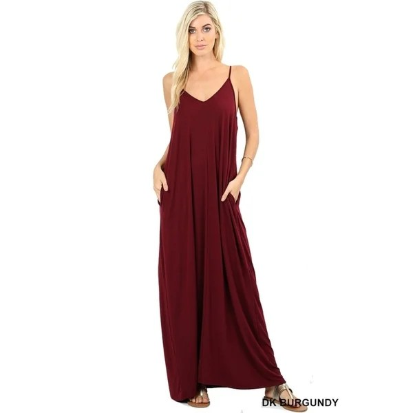 buy red sundress casual