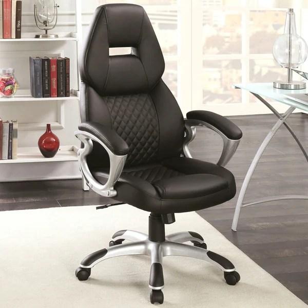 quilted swivel chair best travel high booster seat shop zender adjustable design modern office