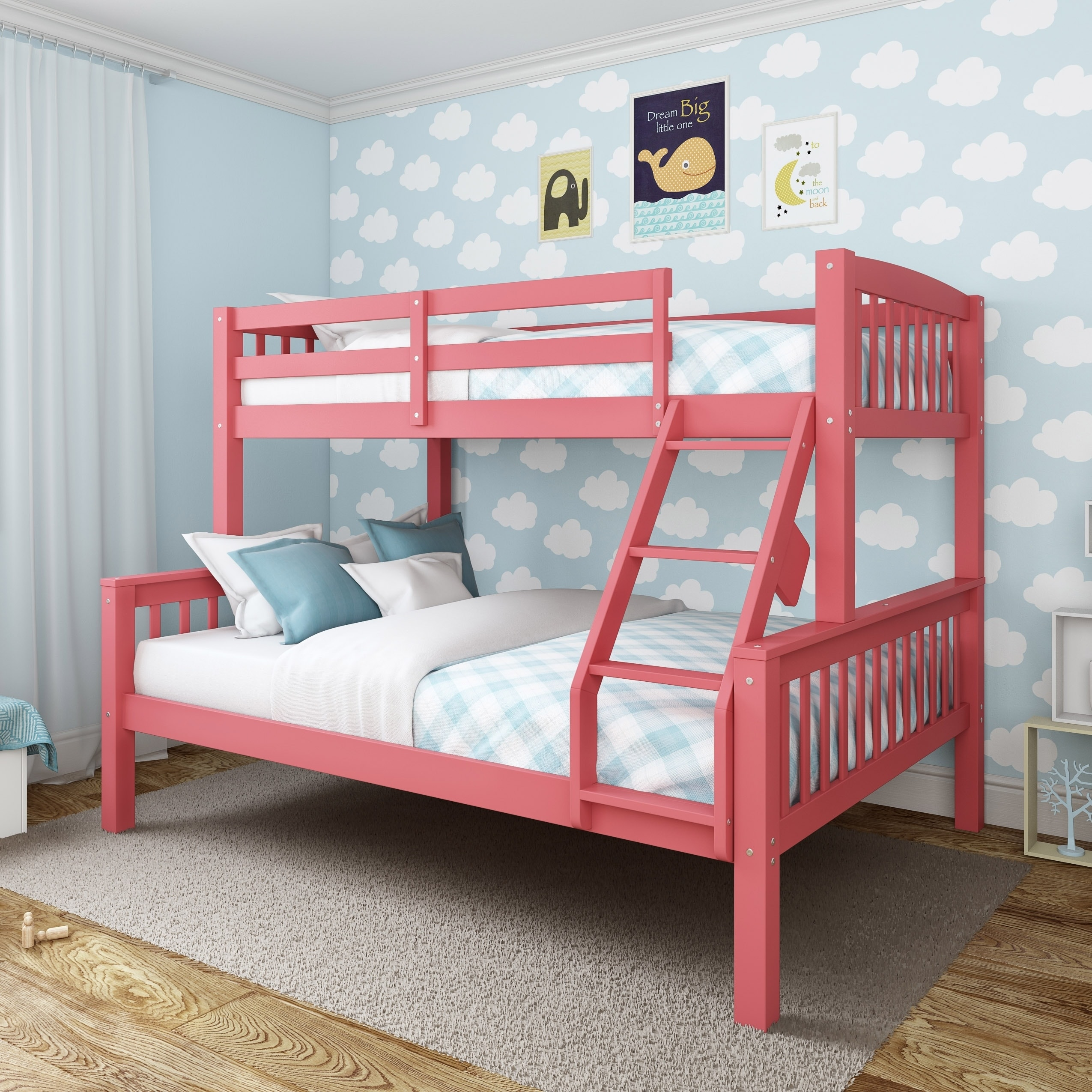 Taylor Olive Christian Twin Single Over Full Double Bunk Bed Overstock 19876150