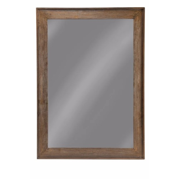 Rustically Charmed Wooden Frame Mirror, Brown