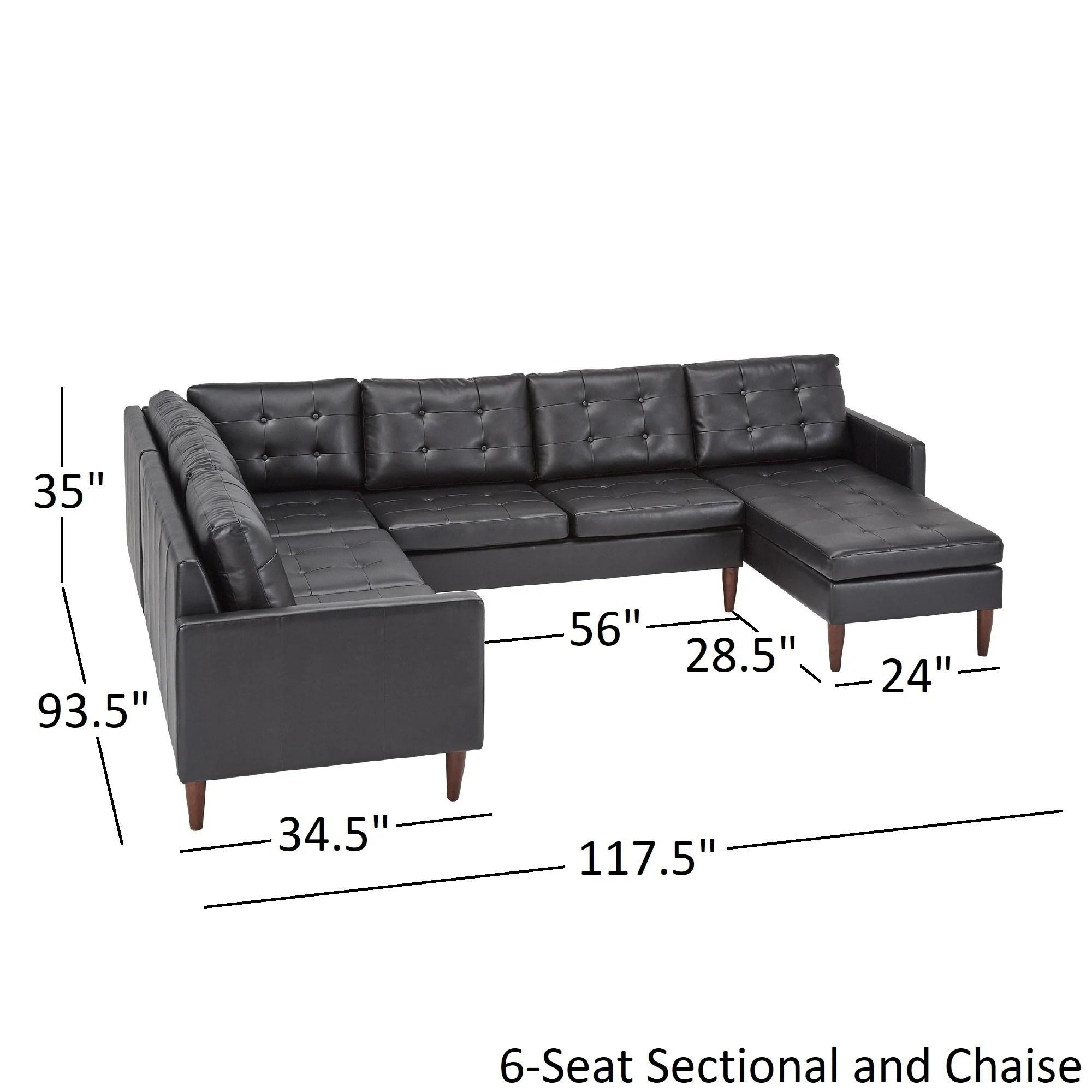 shawna black leather gel u shape sectionals by inspire q modern