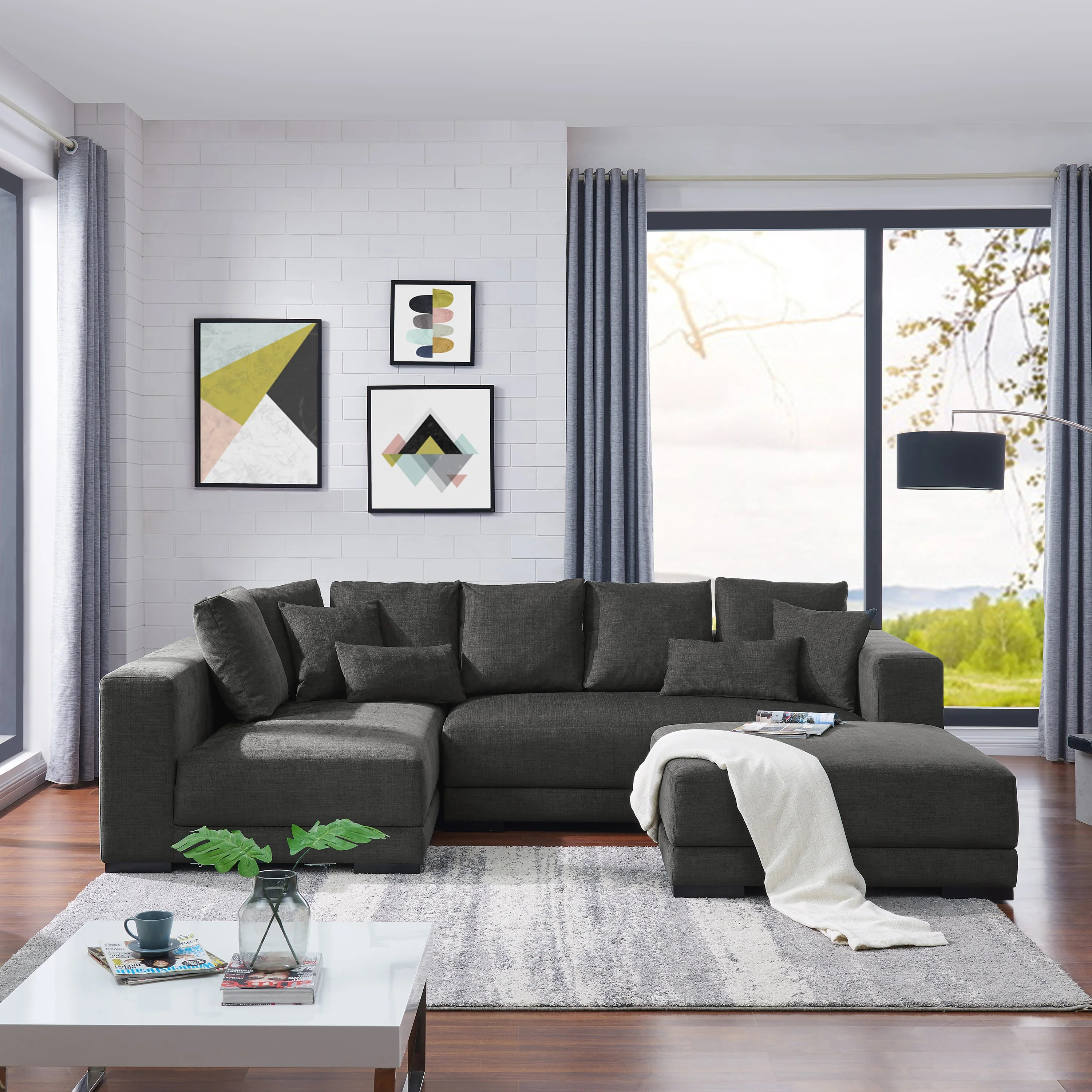 chesterfield pull out sofa bed chaise longue uk buy grey sectional sofas online at overstock.com | our ...