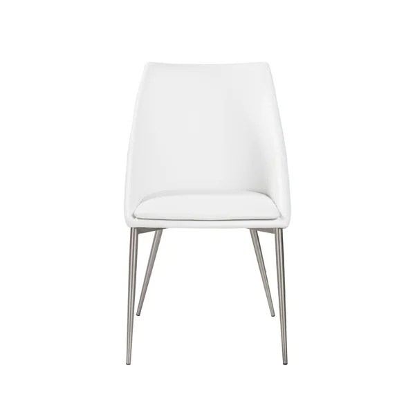 plastic chairs with stainless steel legs small chair for bedroom shop constance side in white brushed set of 2