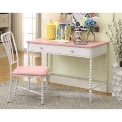 Computer Desk And Chair Set Small Leather Swivel Club Shop Furniture Of America Cerise Transitional 2 Piece Pink White Amp