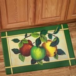 Green Kitchen Mat Under Cabinet Lighting Shop Apples Printed Anti Fatigue 18 X30 Multi