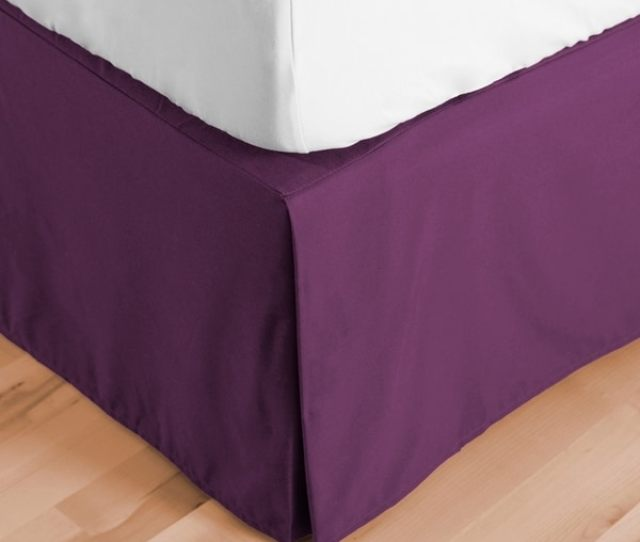 Porch Den Angell 15 Inch Drop Pleated Bed Skirt