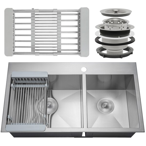 33 x 22 kitchen sink cheapest cabinets shop akdy ks0102 9 handmade stainless steel top mount