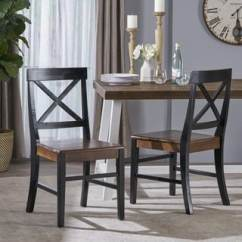 Farmhouse Dining Chairs Grey Rocking Chair Nursery Buy Rustic Kitchen Room Online At Overstock Com Roshan Acacia Wood Set Of 2 By Christopher Knight Home