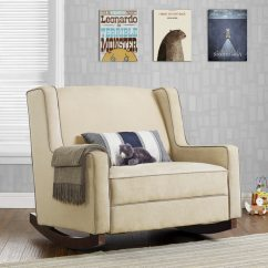 Relax The Back Chair For Sale Folding With Umbrella Shop Baby Hadley Microfiber Double Rocker On Free X27