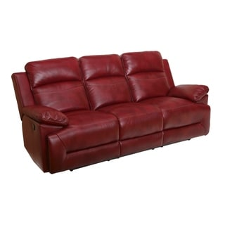 reclining leather sofas vintage knoll sofa buy recliner couches online at overstock com our cortez red dual