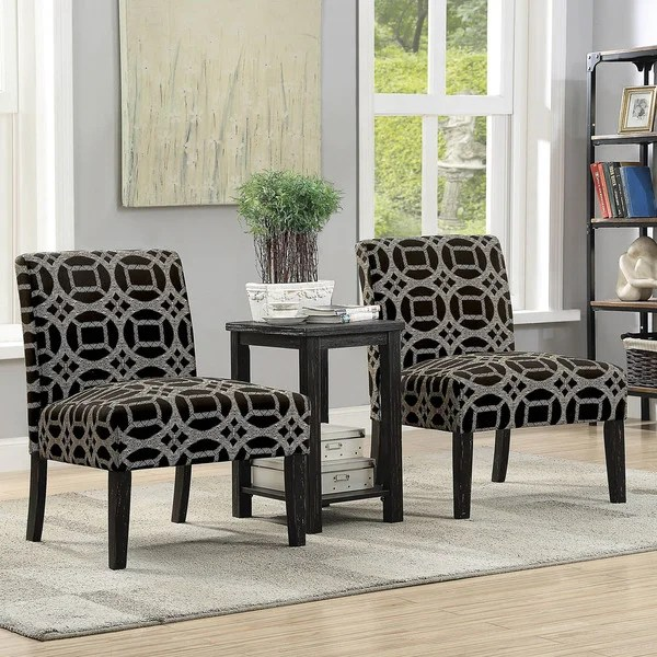 transitional accent chairs white barber chair shop furniture of america braden 3 piece and table set