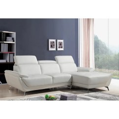 Modern Sofa L Shape Barker Stonehouse Leather Sofas Shop Lincoln White Shaped With Adjustable Headrests