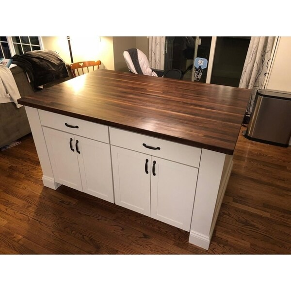 kitchen island top cabinets brands shop forever joint walnut 36 x 72 butcher block