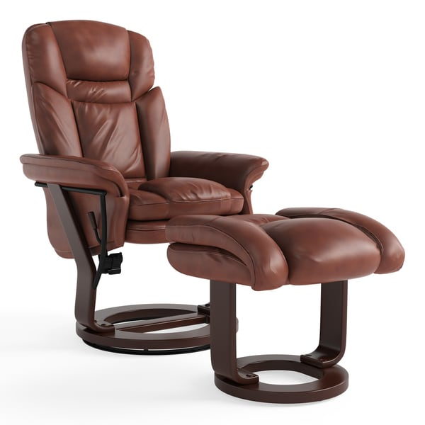 recliner vs chair with ottoman hanging pink shop copper grove gunnison leather free