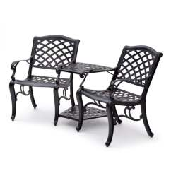 Tete A Chair Outdoor Office Joe Rogan Shop Aluminium Black On Sale Free Shipping Today Overstock Com 20279803