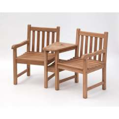 Tete A Chair Outdoor Breakfast Nook Tables And Chairs Shop Bali Teak On Sale Free Shipping Today Overstock Com 20279807